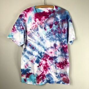 Tops - NEW Tie Dye Hand Dyed Colorful Tee Shirt Cotton557